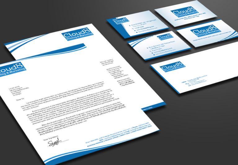 Letterhead printing and envelope printing