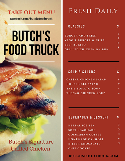 food truck menu design cloud 8 printing